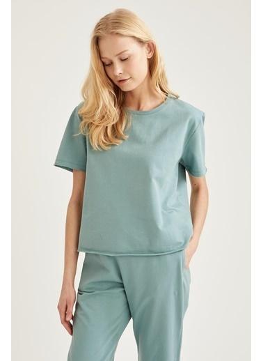 DeFacto Pijama Üst Yeşil